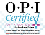 OPI Certified Safe & Sanitary<br>Professional Salon